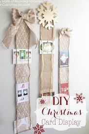 Decoration Of Christmas Cards by Diy Christmas Card Display Christmas Card Display Card Displays
