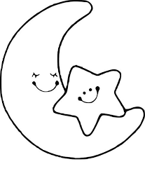 Coloriage lune et etoile  STENCILS  Pinterest  Felt wreath