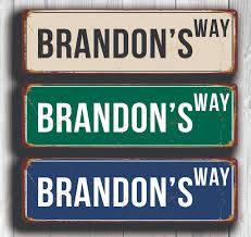 novelty street signs vintage style metal signs pinterest