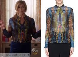 snake print blouse nashville season 3 episode 10 rayna s multicolored snake print