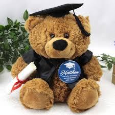 graduation bears graduation bears brown graduation cap teddy with badge