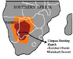 africa map kalahari desert kalahari desert