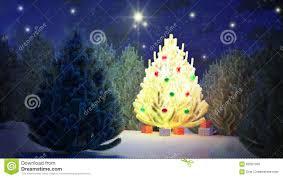 christmas tree light color holiday santa night stars fir