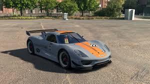 porsche 918 rsr concept porsche 918 rsr porsche car detail assetto corsa database