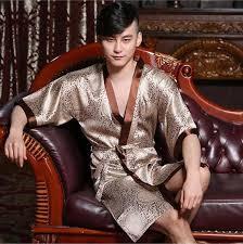 robe de chambre japonaise homme haute qualité maison satin de soie peignoir hommes kimono