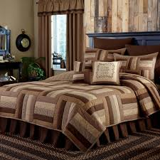 country bedding shades of brown quilt