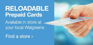 reloadable credit card reloadable prepaid cards walgreens