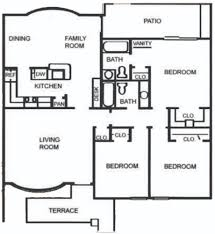 3 Bed 2 Bath Floor Plans by Irving Arts District Apartments The Colony Apartments