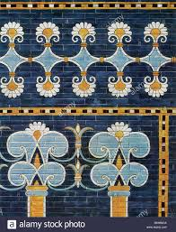 this wall design replicates one that decorated the palace of stock