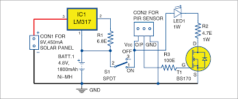 Solar Street Light Circuit Diagram by Electronics Projects Solar Light For A Portable Toilet