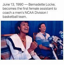 Bernadette Meme - june 13 1990 bernadette locke becomes the first female assistant to