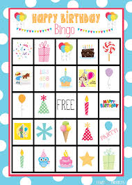 Halloween Bingo Free Printable Cards by Birthday Bingo Cards Crazy Little Projects