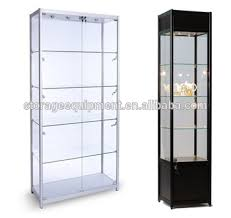 cheap glass display cabinets for sale simple easy assemble cheap glass display cabinets with sliding door