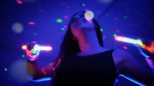 clubbercise promo dance fitness class with rave glow sticks