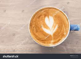 top view coffee cup on table stock photo 584139595 shutterstock
