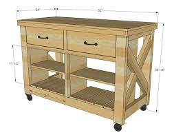 how to build a kitchen island cart ana white rustic x kitchen island double diy projects how do i