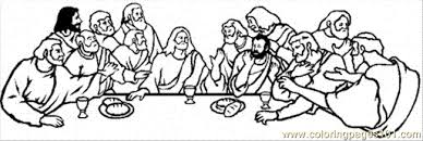 Jesus Is Talking At Last Supper Coloring Page Free Religions Last Supper Coloring Page