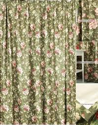 Brown Floral Curtains Unique Vintage Printing Floral Curtains Length