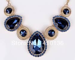blue crystal necklace set images Pn12539 fashion crystal jewelry sets navy blue crystal new design jpg