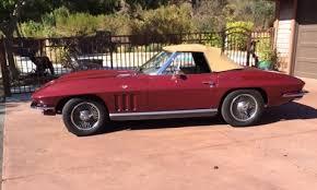 66 corvette stingray fs 1966 corvette stingray roadster 327 matching ca