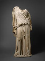 marble statue of an old woman roman early imperial julio