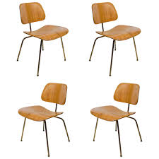 Set Of Four Iconic Modernist Bentwood Chairs Designed By Eames For - Designed chairs