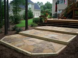 flagstone patios and deck butler landscape design garden design