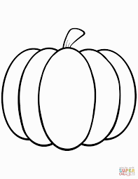 bright design pumpkin outline printable template clipart to color