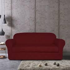 2 Piece Stretch Sofa Slipcover Subrtex 2 Piece Flower Spandex Stretch Sofa Slipcover Sofa Wine