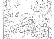 vegetable garden coloring pages coloring pages free