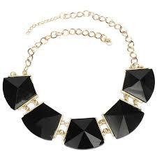 women necklace accessories images 2018 new arrival vintage statement necklaces black geometry metal jpg