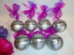 bridesmaid ornaments painted to replicate the details of your