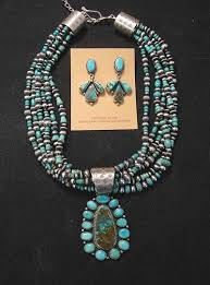 indian jewelry necklace sets images La rose ganadonegro royston turquoise sterling necklace set jpg