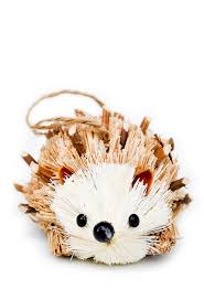 curious hedgehog ornament