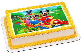 mickey mouse clubhouse birthday cake mickey mouse clubhouse edible cake topper cupcake toppers