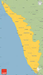 Kerala India Map by Savanna Style Simple Map Of Kerala