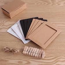 cornice legno da decorare 10x cornice foto album kraft 12 15 5cm 10x mollette di legno 3 5
