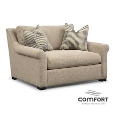 Comfort Chairs Living Room Robertson Comfort Chair And A Half Beige American Signature