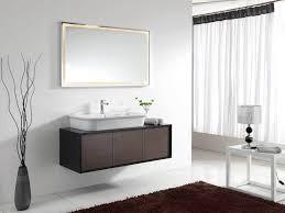 bathroom wall mounted bathroom vanity 45 inch brown wooden wall