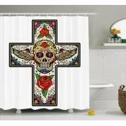 Sugar Skull Bathroom Skull Shower Curtains