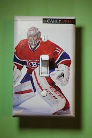 montreal home decor carey price montreal canadiens 31 nhl hockey light switch cover