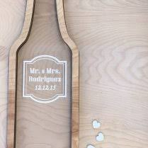 wine bottle wedding guest book shadow box wedding guest book