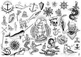 resultado de imagem para traditional tattoos black and white