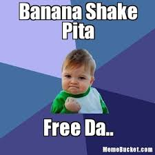 Make Your Own Meme Free - banana shake pita create your own meme