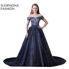 Evening Gowns Aliexpress Com Buy Abendkleider A Line Sequined Lace Evening
