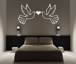 popular dove wall stickers buy cheap lots from personalised dove love birds vinyl wall sticker any name bedroom kids art decal cmxcm china