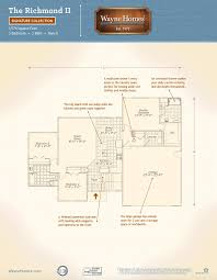 Floor Plans For Ranch Style Homes by Richmond Ii Wayne Homes