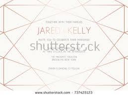 Program Template For Wedding Vector Modern Design Template Wedding Invitation Stock Vector