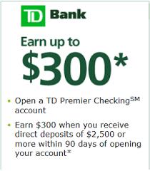 bank account promotions bonuses november 2017