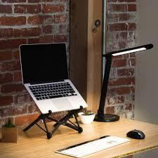 Adjustable Height Standing Desk by Led Desk Lamp